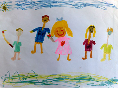 Stewart, Steve, Sam, Maggie and Mitch (by Mitch, age 6)