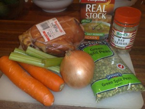 Pea and Ham Soup Ingredients