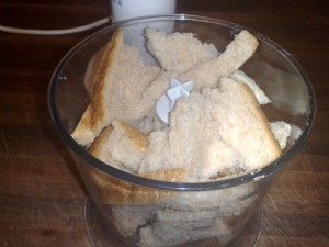 Bread ready to be 'crumbed'