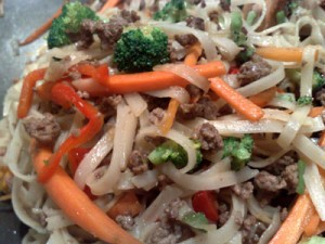 Minced Beef Stir Fry with Noodles