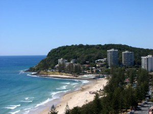 Burleigh Heads South - the view from our unit