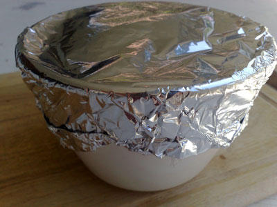 Christmas Pudding Covered with Foil