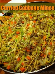 Curried Cabbage Mince with Text