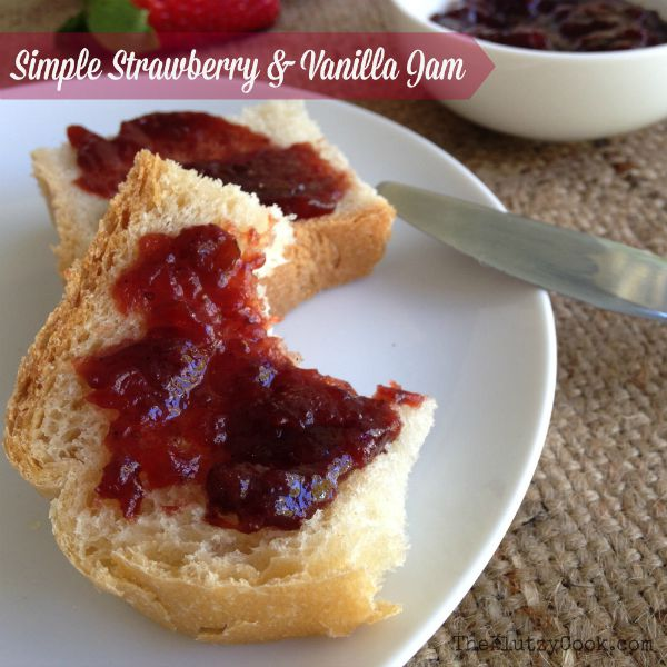Simple Strawberry Vanilla Jam