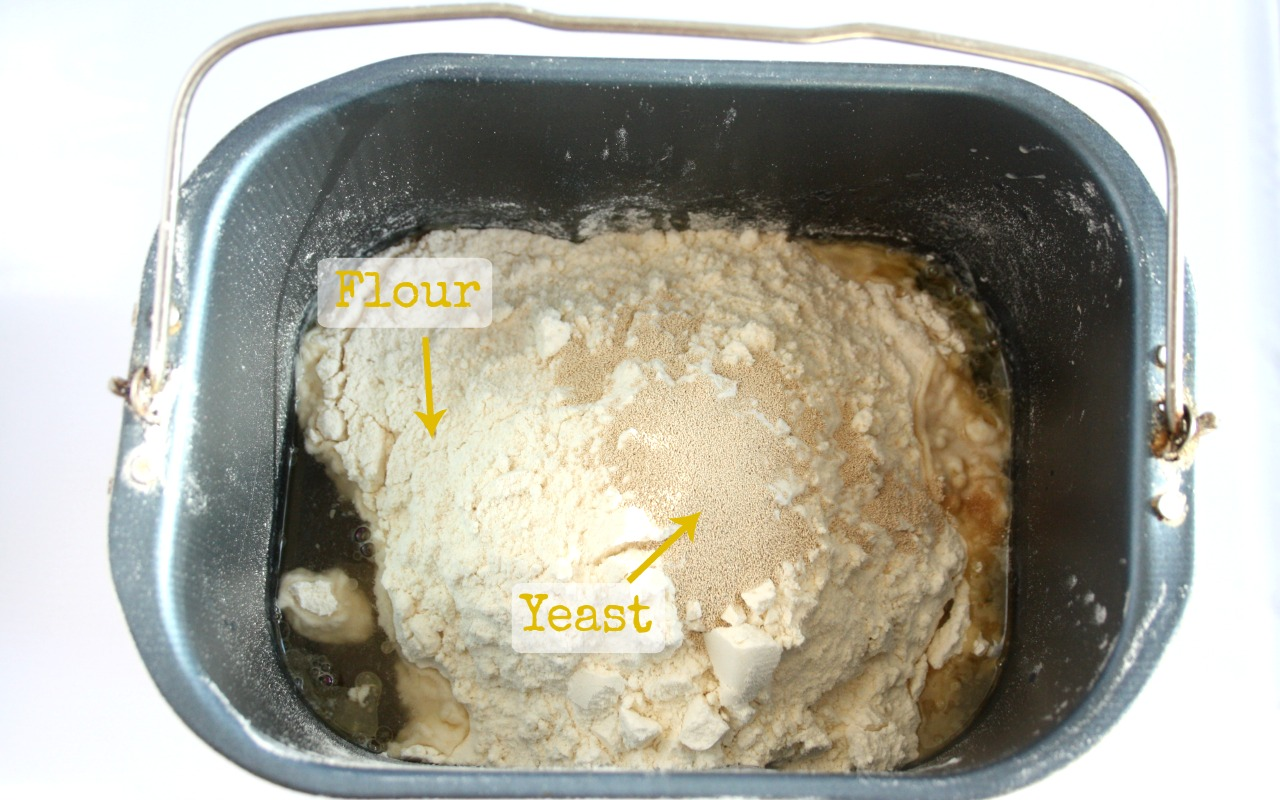 ingredients for bread machine