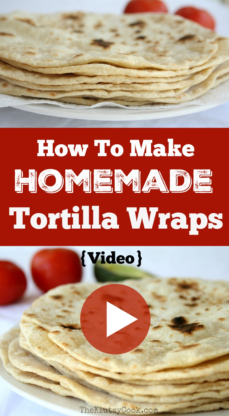 How To Make Homemade Tortilla Wraps