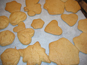 Ginger Biscuits - Not pretty, but tasty!
