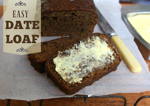 Easy Date Loaf Recipe
