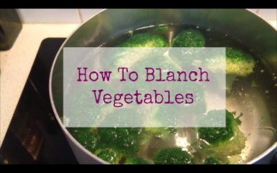 How To Blanch Vegetables {Video}